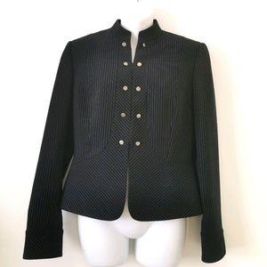 Tahari striped black & white s6 blazer